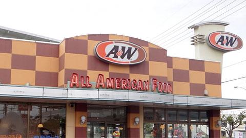 A&W店舗外観